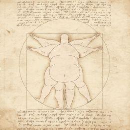 Fat Vitruvian Man Leonardo Da Vinci