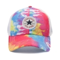 tie-dyed baseball cap, converse all-star logo